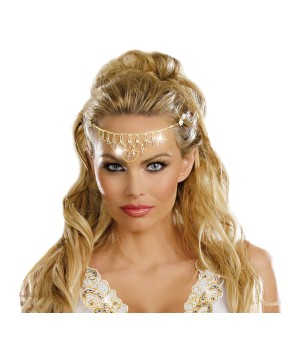 Gold Glittering Rhinestone Headpiece