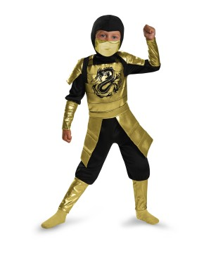 Boys Golden Samurai Costume