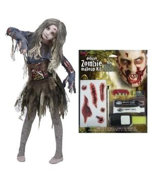 Gore Zombie Girls Costume Kit
