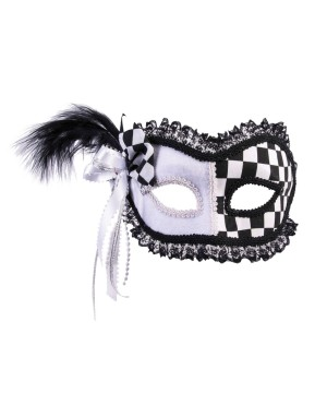 Harlequin With Gema One Half Mask