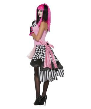 Harlequin Clown Bustle Petticoat