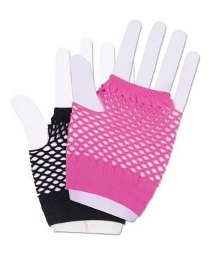 Harlequin Short Fishnet Gloves