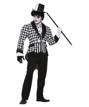 Harlequin Tail Coat Men Costume