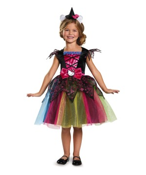 Girls Hello Kitty Witch deluxe Costume