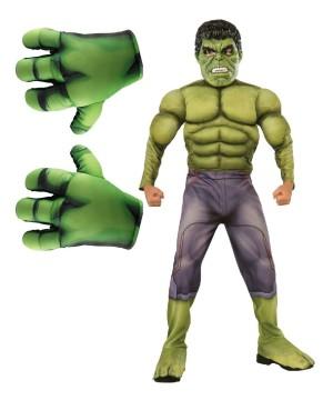 Incredible Hulk Avengers Boy Costume Kit