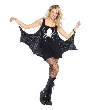 Jersey Dress Spiderweb Women Costume