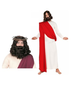 Jesus Men Costume Wig and Beard Set