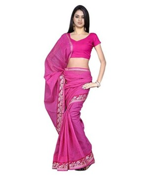 Kota Doria Handloom Pink Saree
