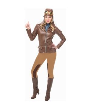 Pilot Lady Lindy Women Costume