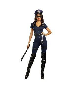 Lieutenant Ivana Misbehave Police Officer Women Costume
