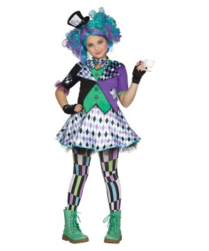 Mad Hatter Girls Costume