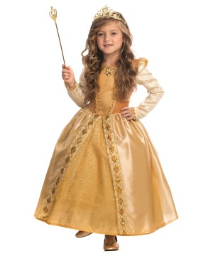 Majestic Golden Girl Princess Costume