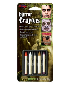 Makeup Crayons Horror Colors