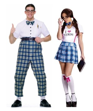 Nerd Men and Women Couples Costumes