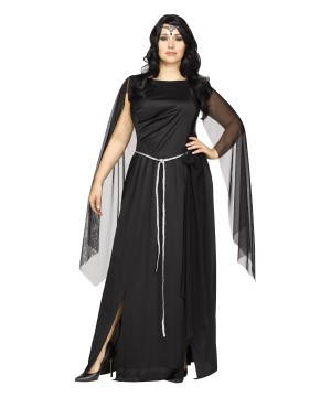 New Moon Dark Goddess plus size Woman Costume