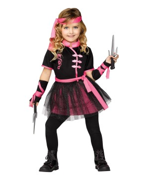 Ninja Miss Girls Costume