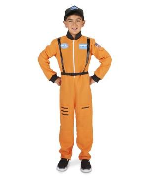 Orange Boys Astronaut Costume