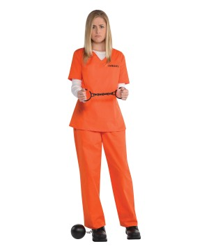 Orange Inmate Prison Costume