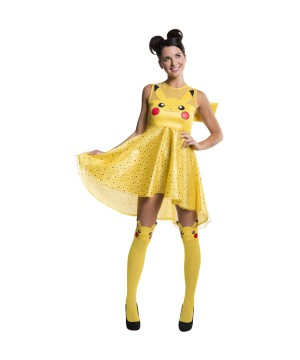 Pikachu Pokemon Women Costume Dress