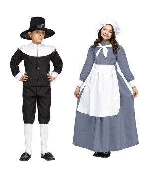 Pilgrim Boys and Girls Costume Set