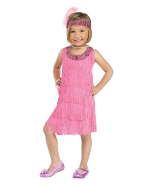 Pink Flapper Toddler Girls Costume