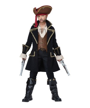 Pirate Captain Boys Costume deluxe