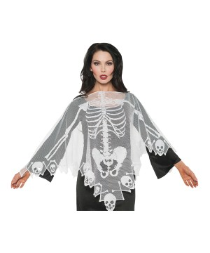 Skeleton Lace Poncho Women