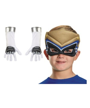 Power Rangers Dino Charge Gold Boys Mask and Gloves Set
