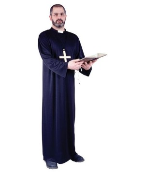 Priest Men Costume and Cross Pendant Set