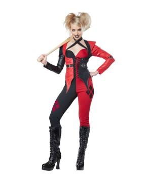 Psycho Jester Harley Quinn Women Costume