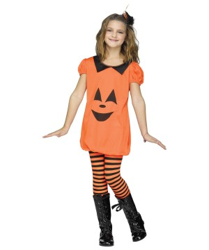 Pumpkin Romper Girls Costume
