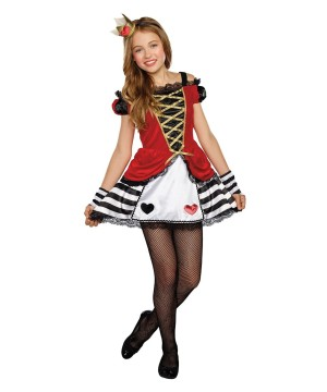 Queen of Heart Tween Girls Costume
