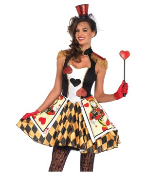 Queens of Heart Card Guard Women Costume