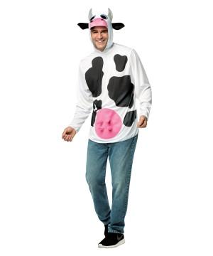 Quick Cow Costume Hoodie