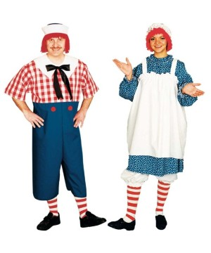 Raggedy Andy and Raggedy Ann Couples Costume Set