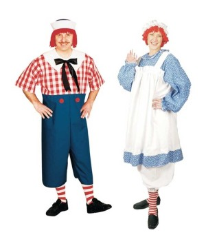 Raggedy Andy and Raggedy Ann plus size Costumes Set