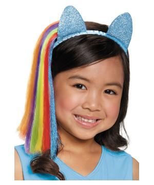 Rainbow Dash Girls Ears Headpiece