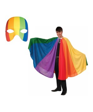 Rainbow Mask and Rainbow Parade Cape Costume Kit