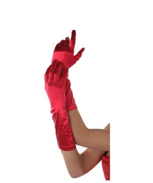 Red Gloves Elbow Length Adult