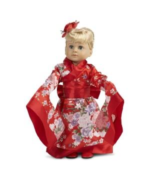 Red Kimono Doll Costume