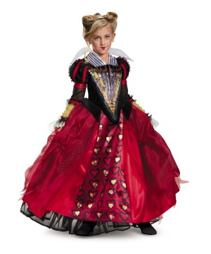 Red Queen Alice Through the Looking Glass Girl Costume deluxe