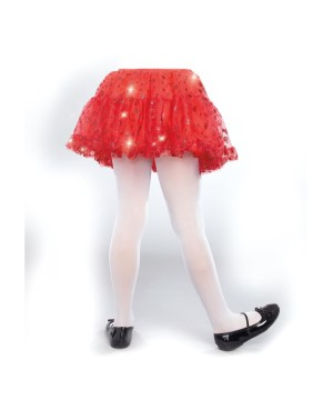 Red Sparkle Girls Petticoat
