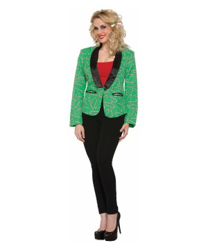 Candy Cane Blazer Women Costume