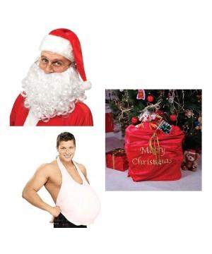 Santa Men Costume Accessories Set