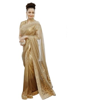 Sequin Design Copper Bollywood Saree