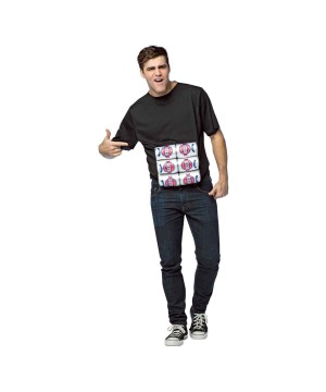 Six Pack Men Shirt Costume