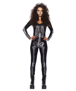 Skeleton Unitard X-ray Women Costume