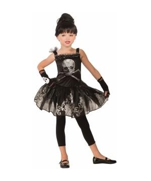 Skull Ballerina Girl Costume