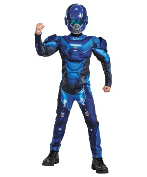 Halo Spartan Muscle Boys Costume