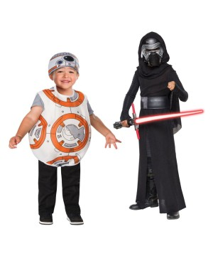 Star Wars Kylo Ren Boys and Bb8 Droid Toddler Boys Costume Set